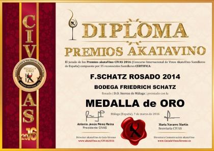 F Schatz Rosado 2014 Diploma Medalla ORO CIVAS 2016 (37)