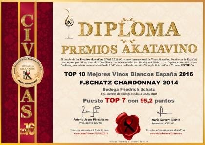 Top 7 F Schatz Chardonnay 2014 Top 10 Mejores Vinos Blancos en España 2016  akataVino es (3)